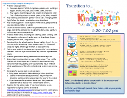 Transition to K Program Guide